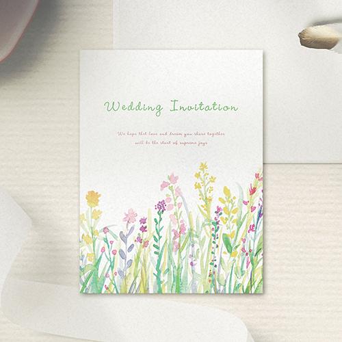 花畑ホワイト 招待状のサムネイル